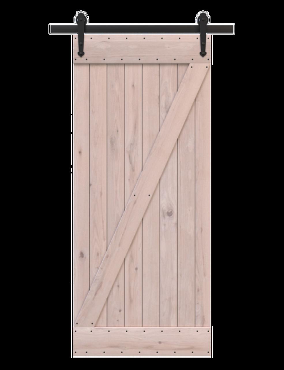 unfinished wood classic z barn door