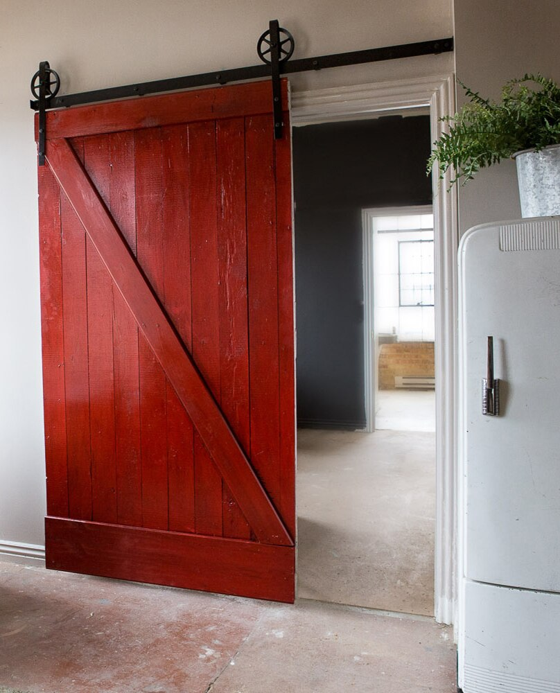 painted full z classic barn door