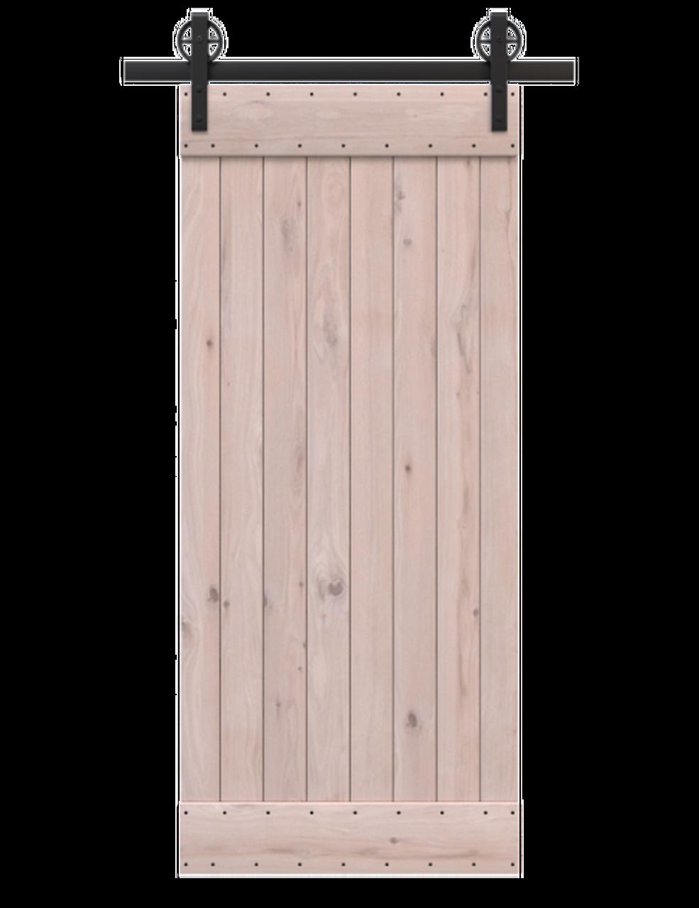 unfinished wood classic barn door