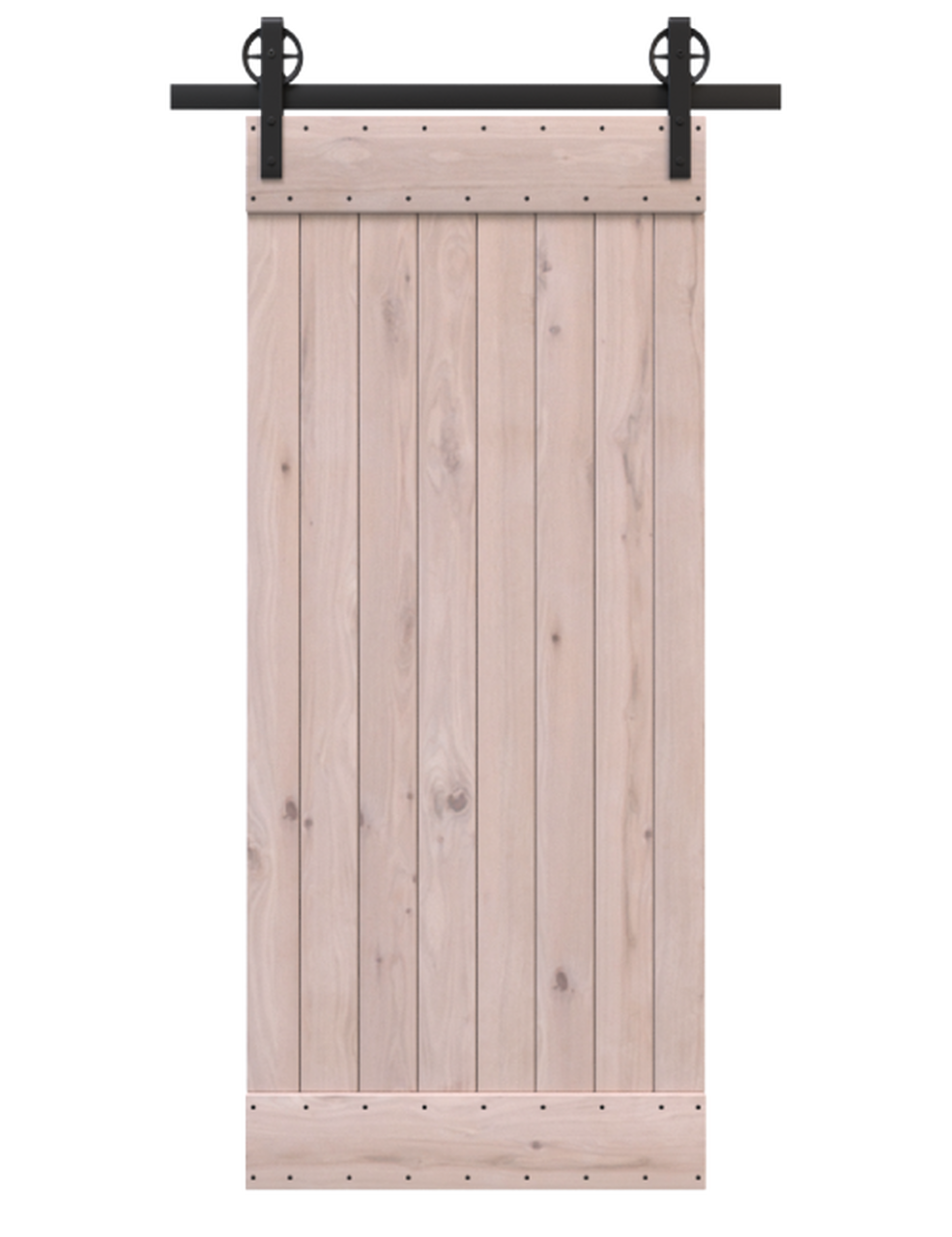 unfinished wood classic barn door