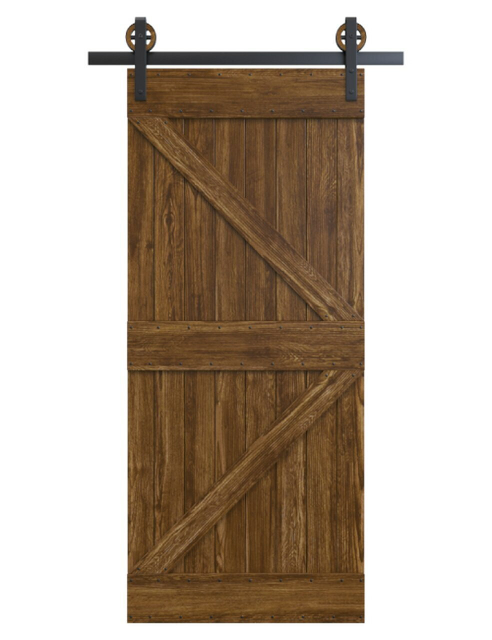 knoxville wood dark stain stable style barn door