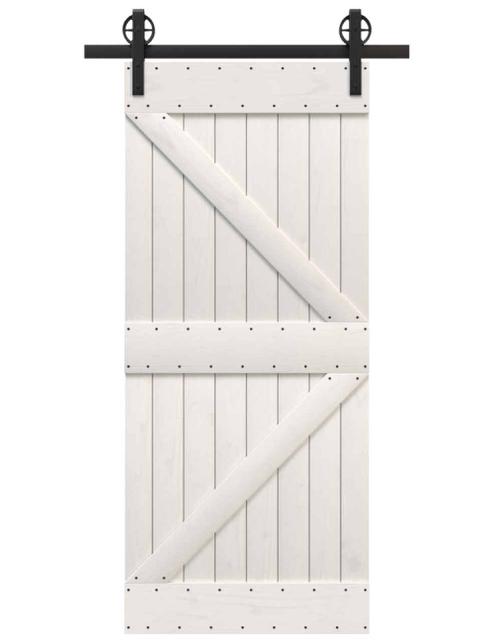 knoxville wood white painted stable style barn door