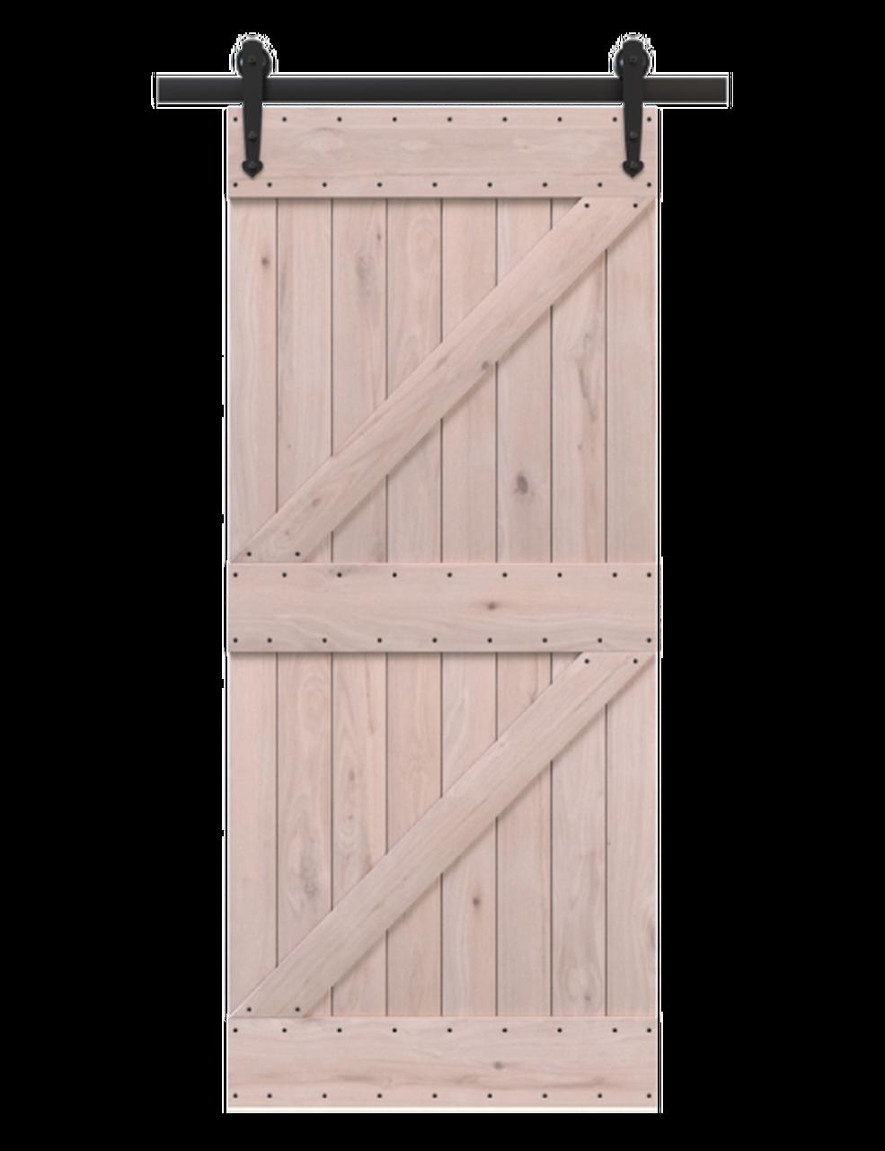 portland unfinished wood double z style barn door