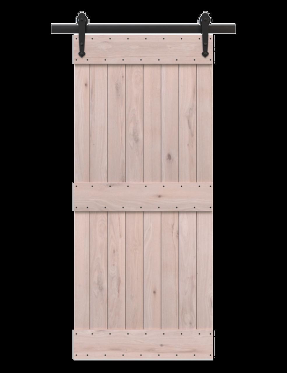 2 panel unfinished wood barn door