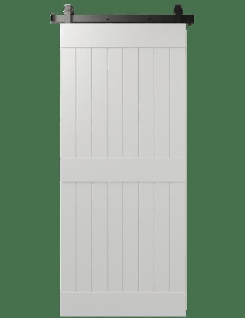 2 panel sharleston barn door white