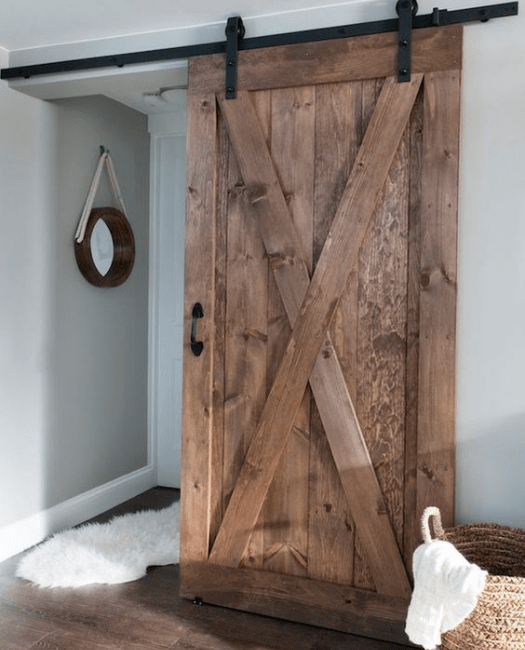The Savannah Wood Sliding Barn Door Lifestyle - Bedroom