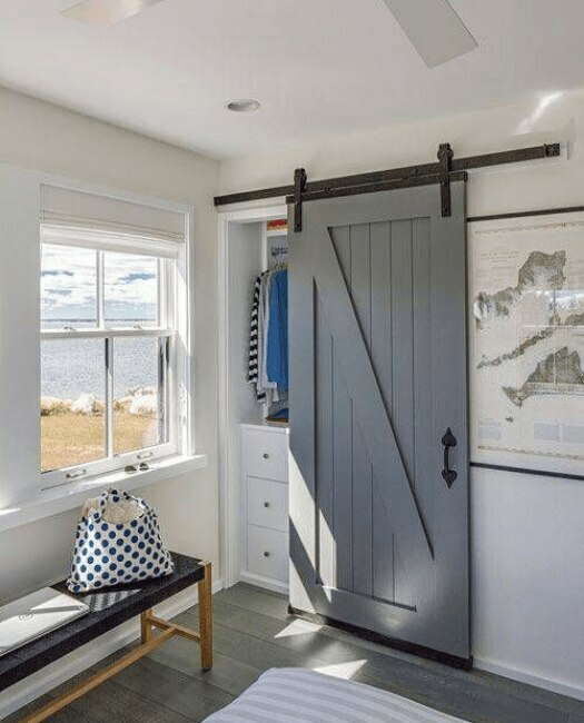 Juneau Wood Sliding Barn Door - Lifestyle Closet