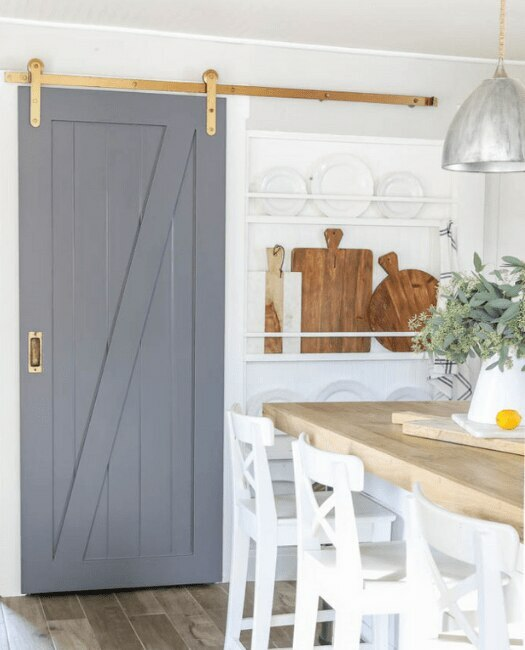 Juneau Sliding Barn Door - Lifestyle Kitchen