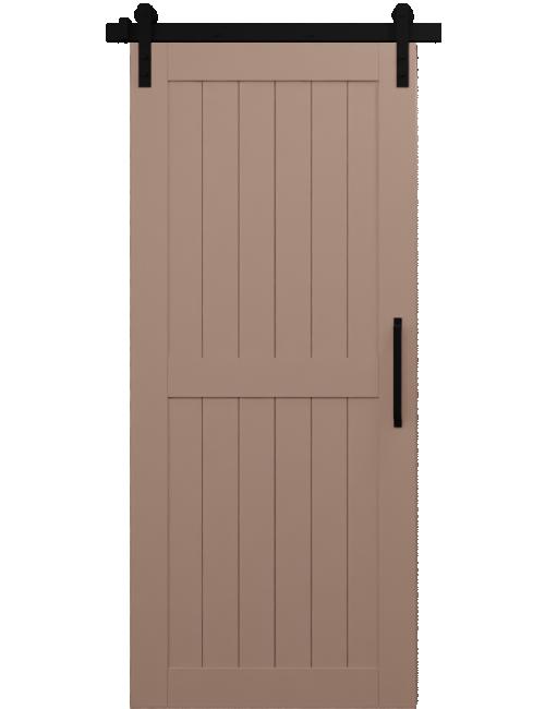 light brown naples wood 2 panel barn door