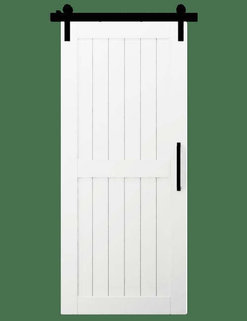 white paint naples wood 2 panel barn door