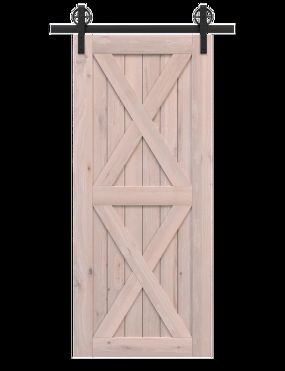 nantucket-unfinished-wood-barn-door-with-double-x-panel