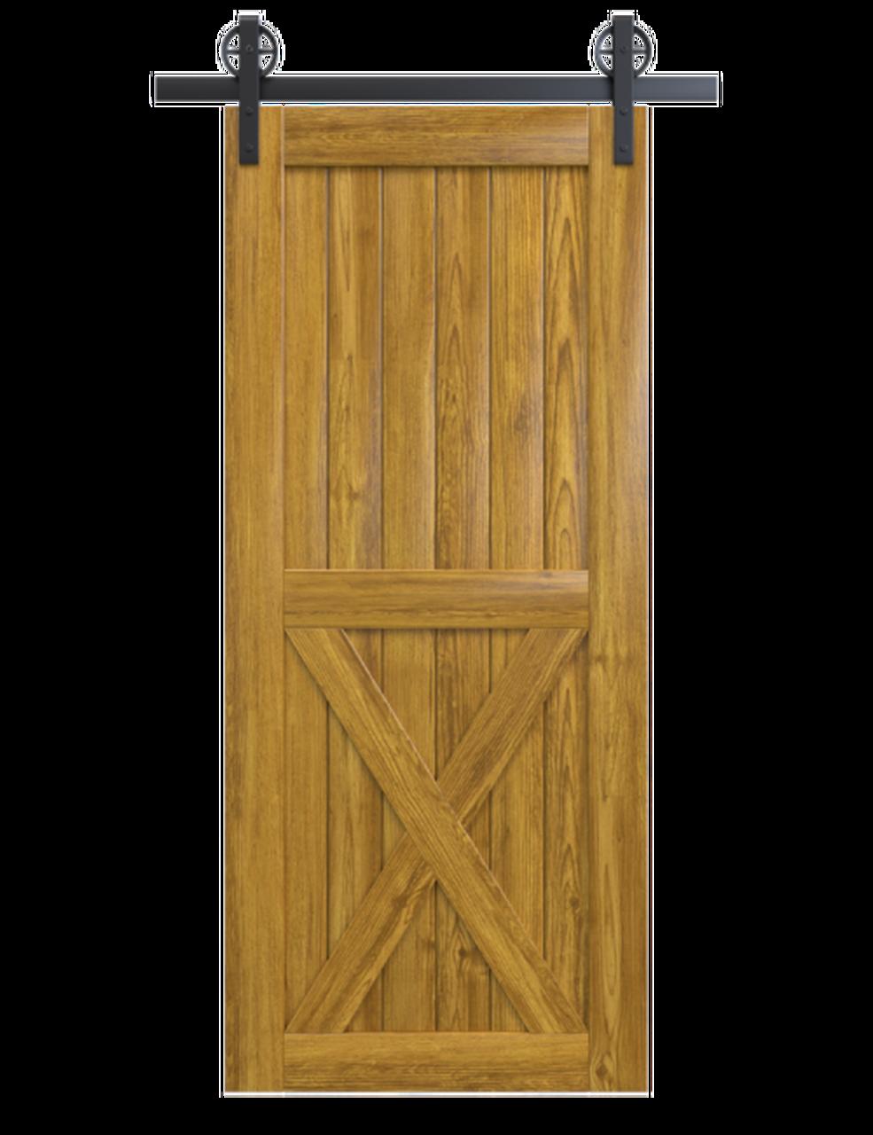 lake placid lake placid stained wood half x panel barn door