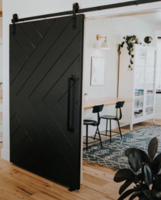 Modern Arrow Sliding Barn Door