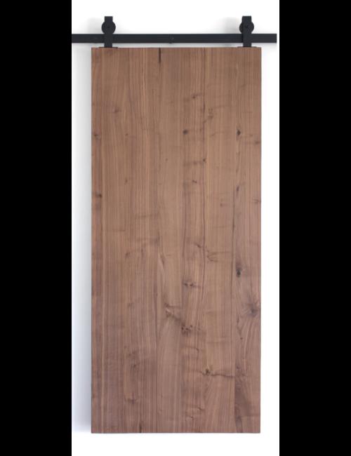 walnut slab wood barn door