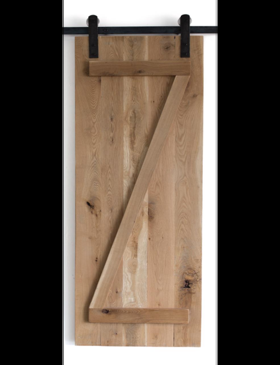 oak slab wood z style barn door