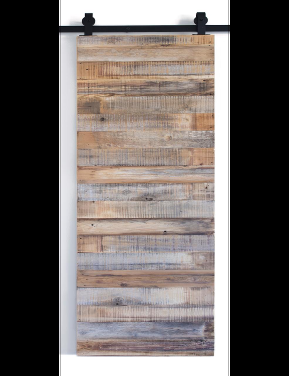 reclaimed wood single barn door