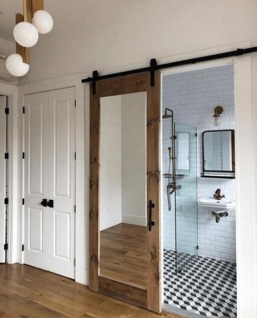 Mirror Sliding Barn Door