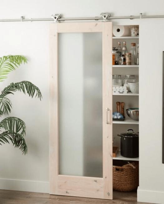 The Glass Panel Sliding Barn Door - Lifestyle Pantry