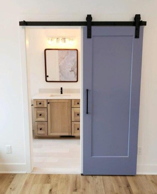 Custom Paint Full Panel Sliding Bathroom Barn Door