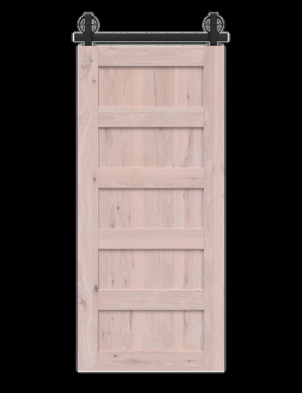 5 panel unfinished wood barn door