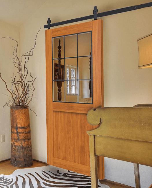 Rustic Half Panel Barn Door Lifestyle Bedroom