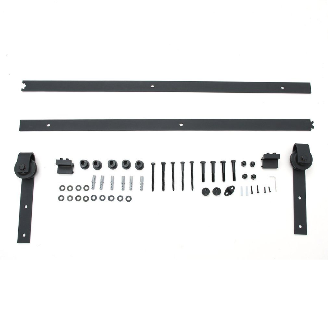 black barn door hardware set