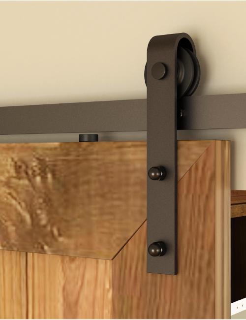 ready to ship black barn door hardware