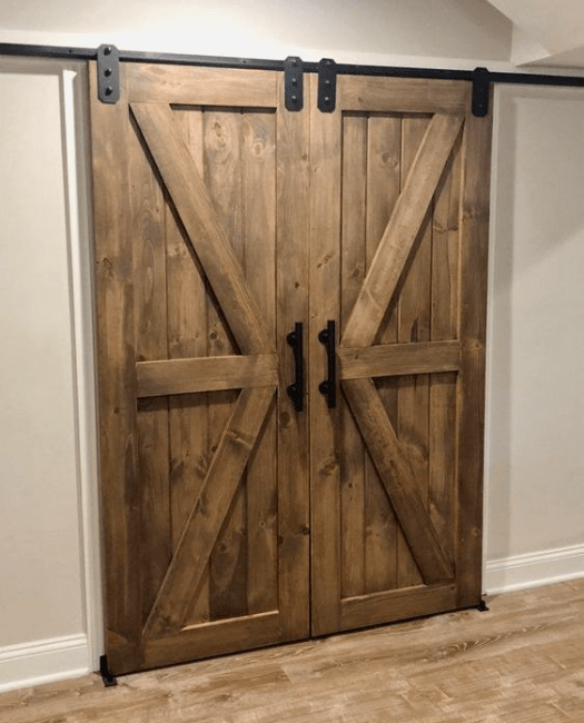The Sonoma Double Sliding Barn Door - UGC