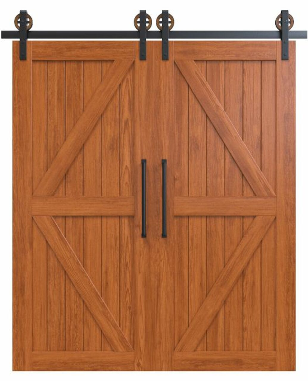 sonoma stained wood stable style double barn door