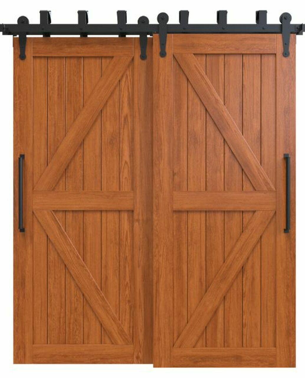 sonoma stained wood stable style bypass barn door