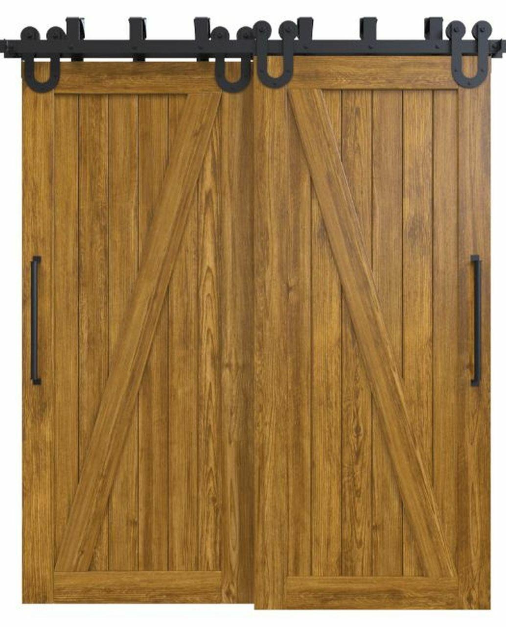 wood medium stain classic z double barn door