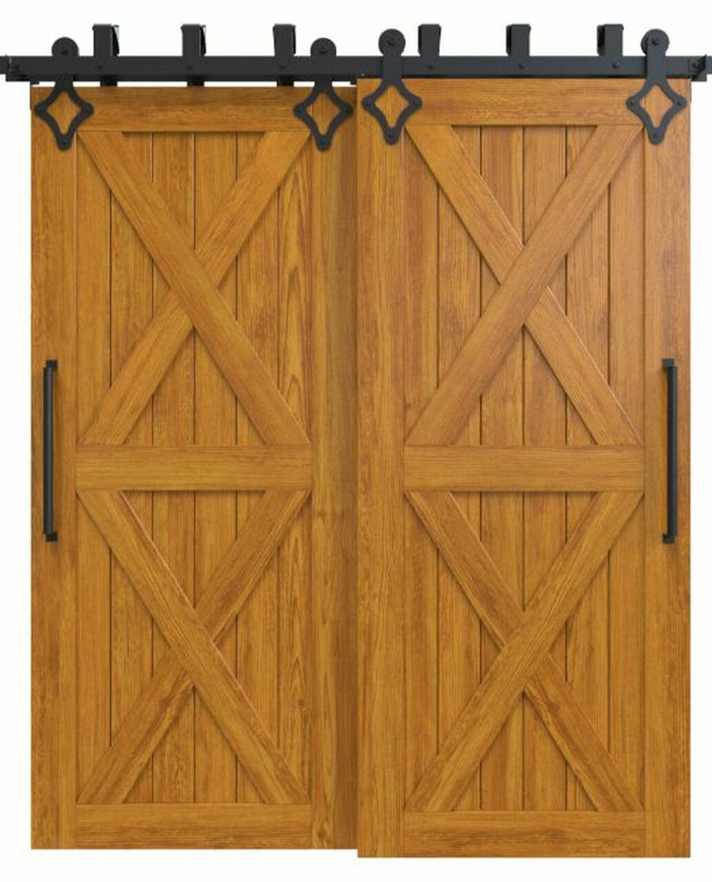 nantucket-stained-wood-bypass-barn-door-with-double-x-panel