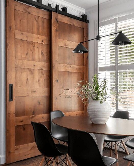 5 Panel Bypass Sliding Barn Door - Lifestyle Kitchen