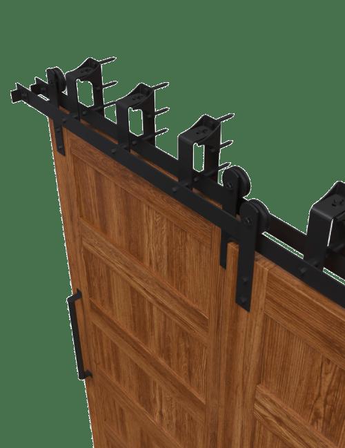 Front Strap Bypass Barn Door Hardware