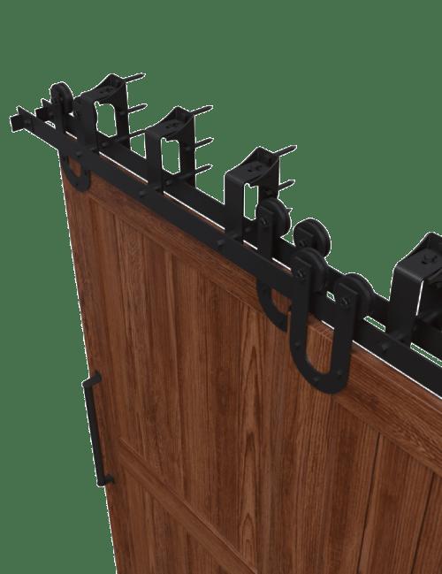 U Style strap bypass barn door hardware