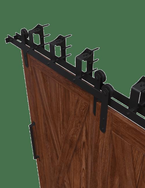 minimal modern bypass barn door hardware