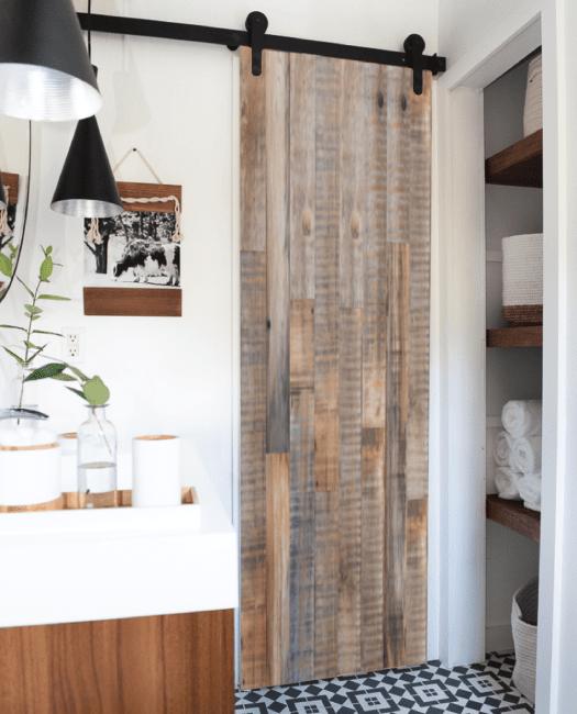 Jefferson Reclaimed Sliding Barn Door - Bathroom
