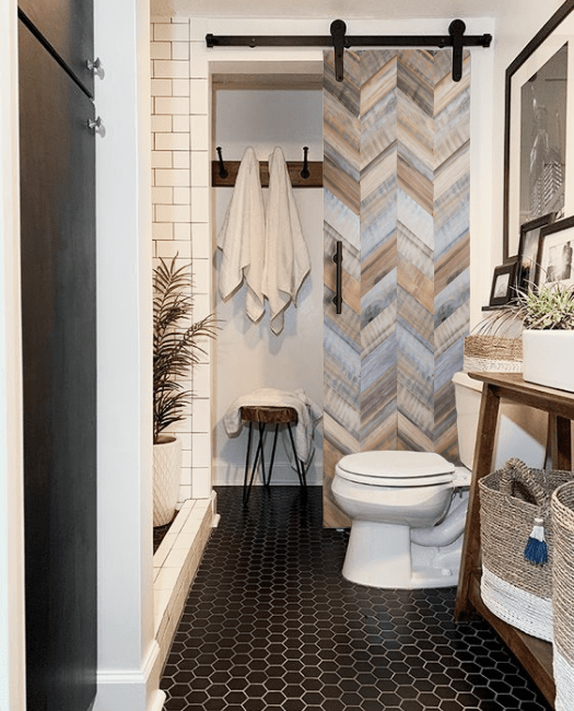gray adams reclaimed wood lifestyle - bathroom linen closet