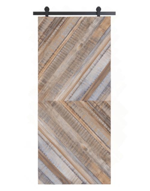 gray henry reclaimed wood double herringbone barn door