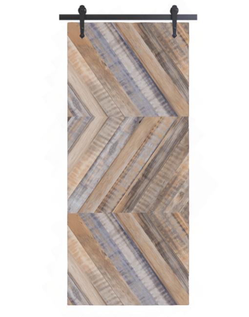 gray lewis reclaimed wood horizontal triple herringbone barn door
