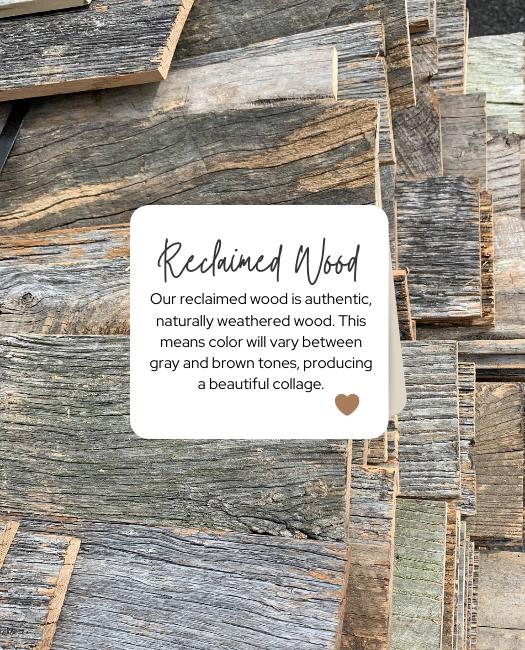 white shanty reclaimed wood sample
