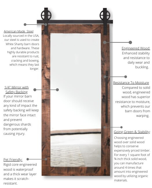 benefits of white shanty mirror doors