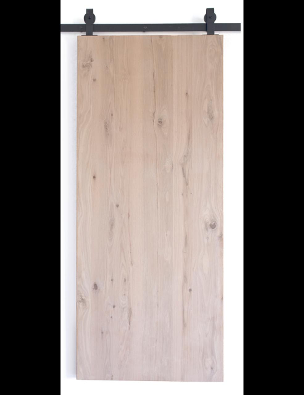 oak slab wood barn door