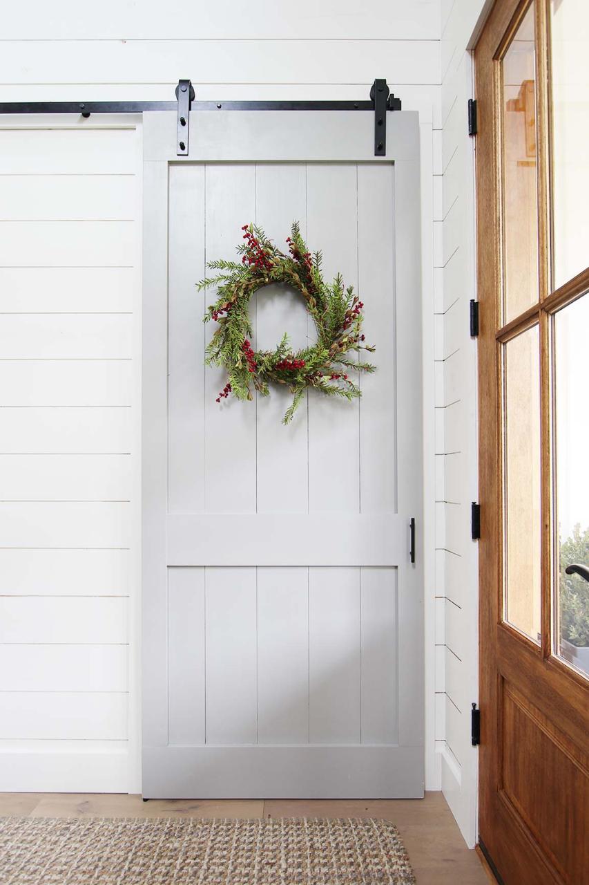 painted wood Fully Custom Foyer Sliding Barn Door