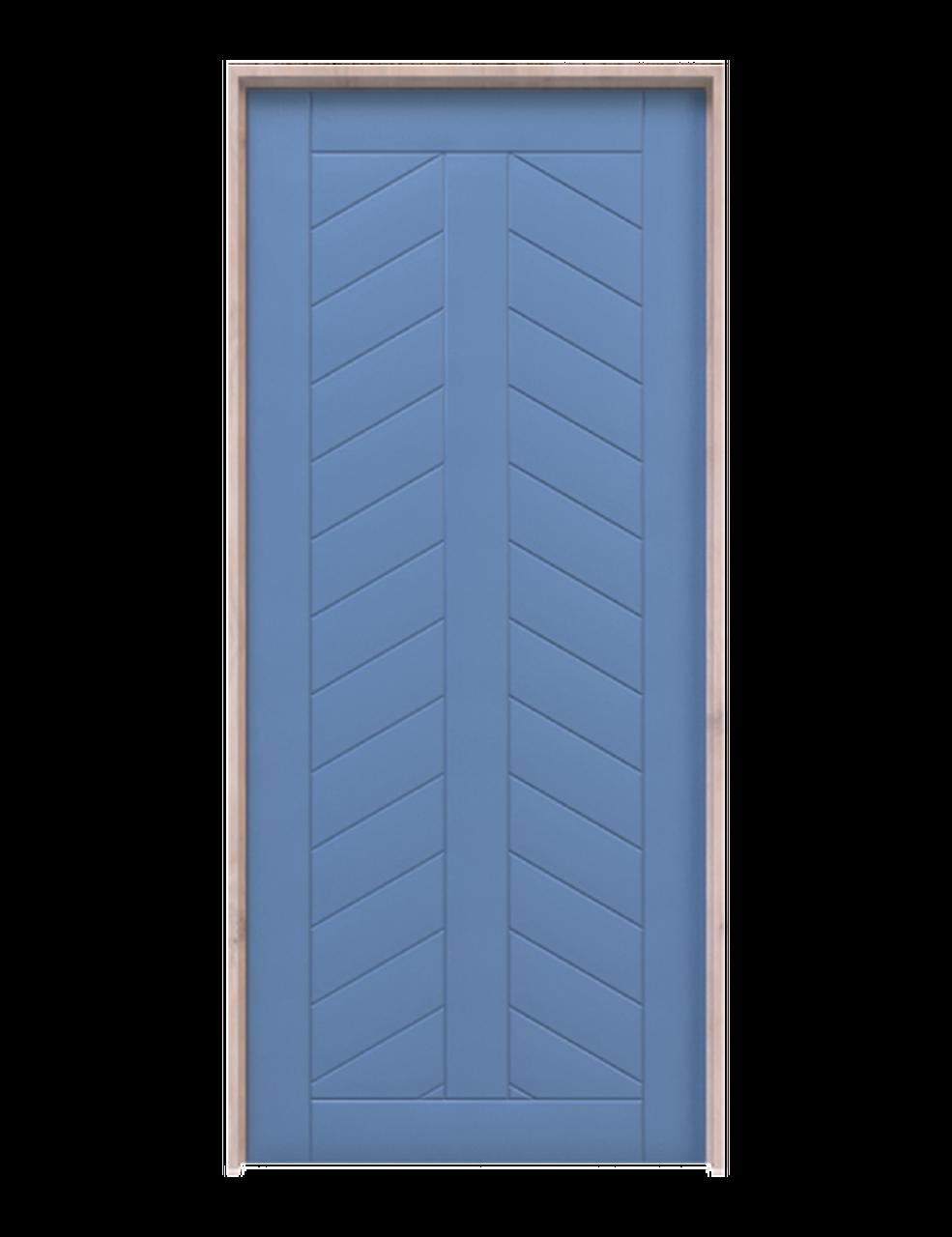 chevron pattern interior barn door