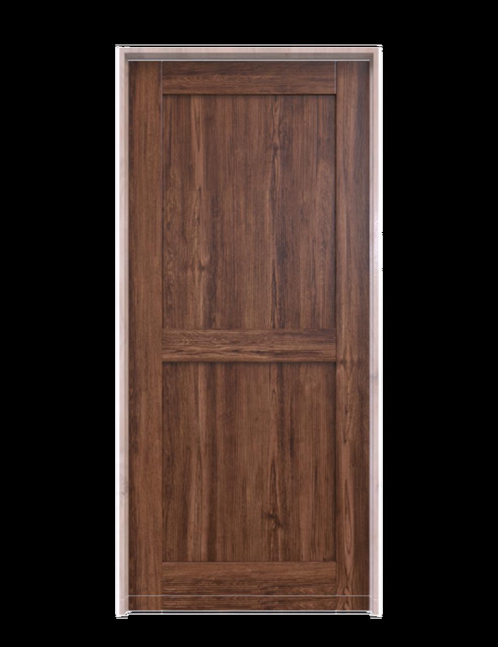 dark stain wood 2 panel barn door