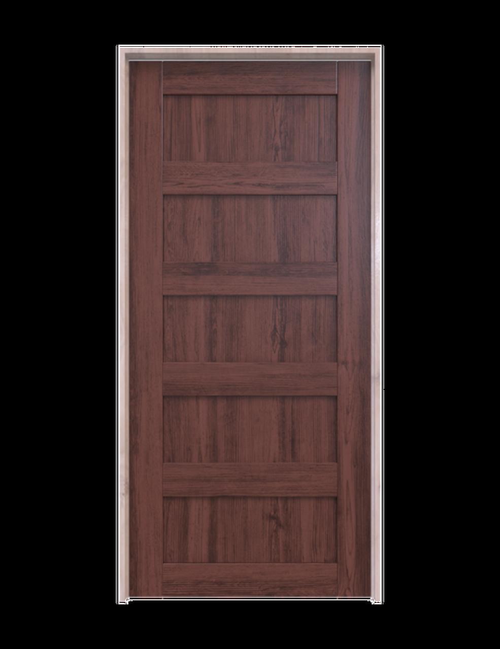 wood 5 panel interior barn door