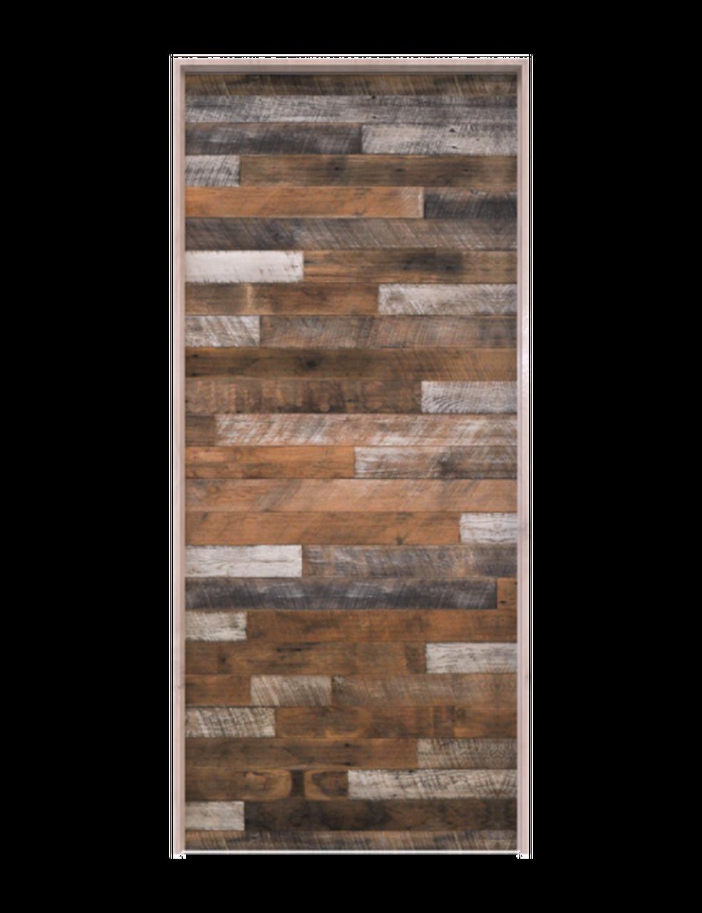 reclaimed wood horizontal interior single barn door
