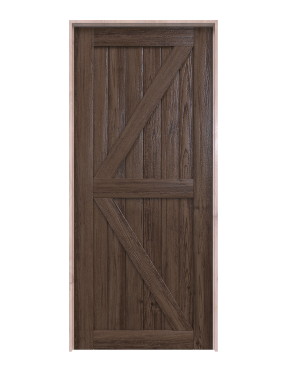 sonoma dark stained wood stable style barn door