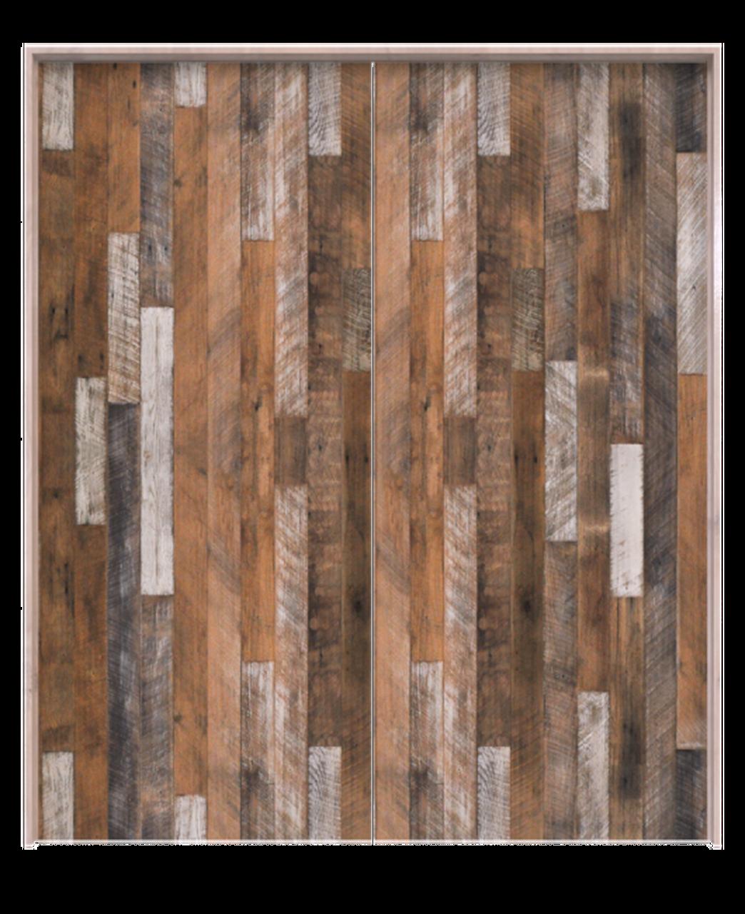 jefferson reclaimed wood vertical double barn door
